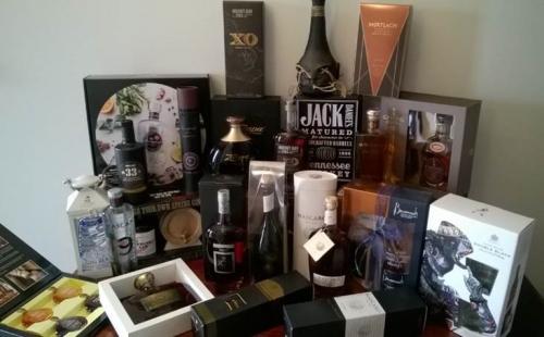 cadeaus, gin, rum, whiskey